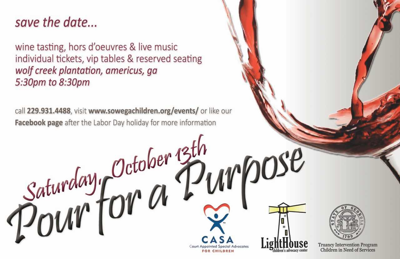 Pour for a Purpose flyer